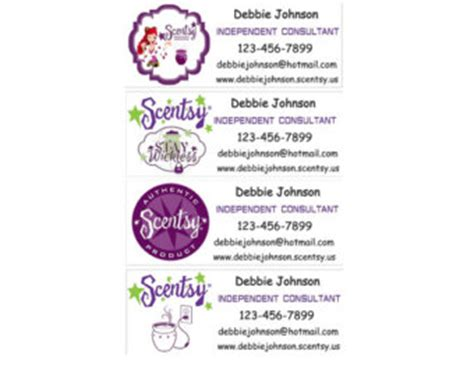 Scentsy Label Template - Top Label Maker