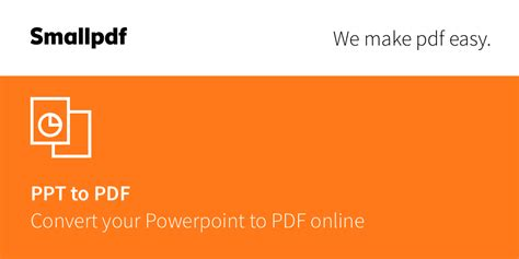 PPT to PDF - Convert PowerPoint to PDF Online