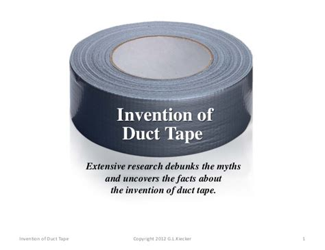 Invention of Duct Tape