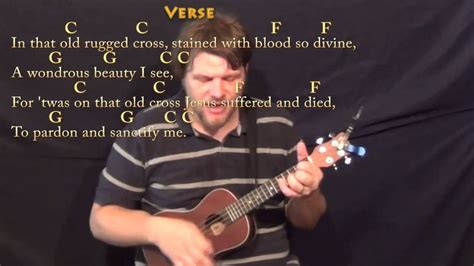 The Old Rugged Cross - Ukulele Cover Lesson in C with