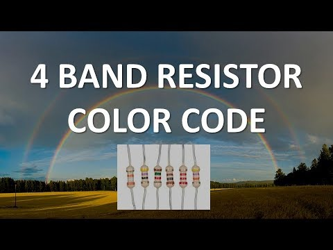 Resistor Color Codes and Chart for 3, 4, 5, and 6 Band