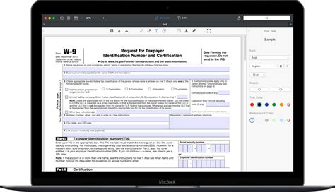 How to fill out IRS Form W-9 2017-2018 | PDF Expert
