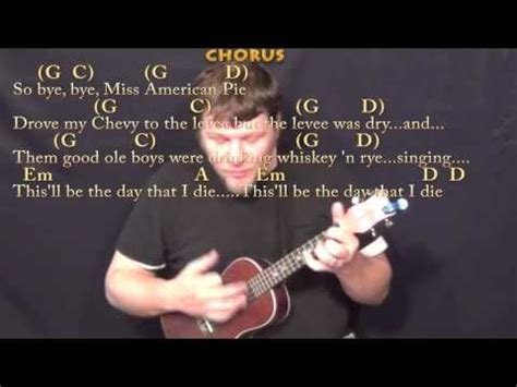 American Pie (Don McLean) Ukulele Cover Lesson with Chords