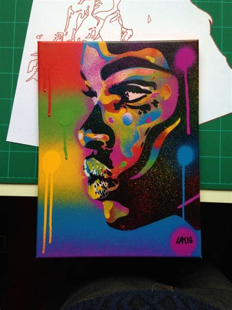 African Woman face painting kiss 2 series stencil art